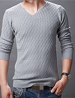 Men's Solid Pullover,Cotton Long Sleeve
