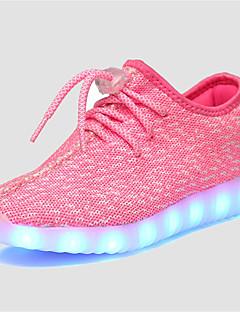 Fete Adidași Vară Aprinde saboții Confortabili Tul Casual Toc Plat LED Verde Roz Gri Bleumarin Altele