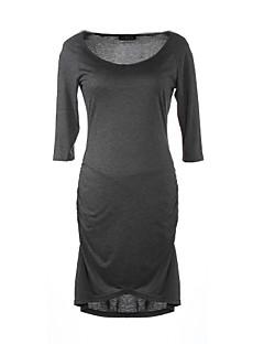 vestidos femininos女性のOネックスリムフィット3四半期のセクシーなボディコン女性プラスサイズのドレスの女性のカジュアルなオフィスウェア