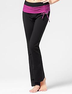 Yoga Pants Calças Respirável / Redutor de Suor / Sem Eletricidade Estática Natural Stretchy Wear Sports Preto Mulheres OutrosIoga /
