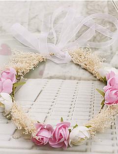 Mulheres / Menina das Flores Tecido Capacete-Ocasião Especial / Casual / Ao ar Livre Grinaldas 1 Peça Redonde