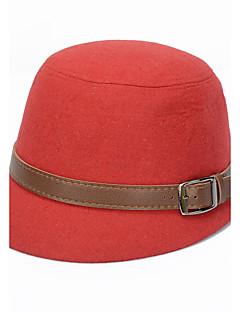 Women Belt Buckle Woolen Hat Bowler Lady Hat
