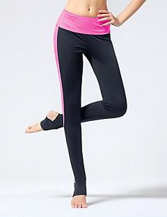calças de yoga Meia-calça Respirável Compressão Elástico em 4 modos Natural Elasticidade Alta Moda EsportivaRosa Cinzento Cinzento Claro