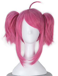 Cosplay Wigs LOL Cosplay Pink Short Anime Cosplay Wigs 40 CM Heat Resistant Fiber Female