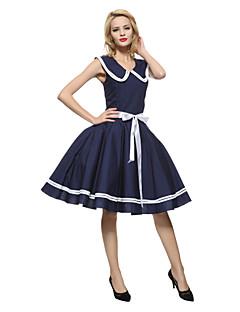 50s maggie Tang dámské vintage námořních námořník rockabilly podvodnících Hepburn obchodní houpačka šaty 526