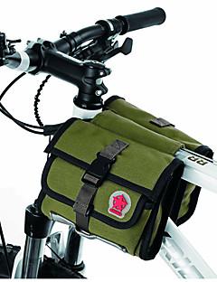 Cyklistická taška 1.5LBrašna na rám Voděodolný zip / Odolný proti vlhkosti / Odolné vůči šokům / Nositelný Taška na koloPVC / Látka /
