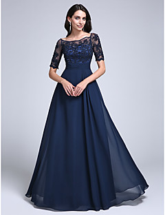 TS Couture® Formal Evening / Military Ball Dress - See Through Plus Size / Petite Sheath / Column Off-the-shoulder Floor-length
