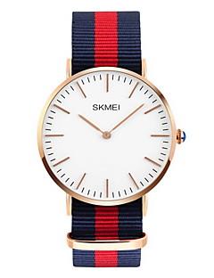 SKMEI Heren Modieus horloge Kwarts Japanse quartz Waterbestendig Vrijetijdshorloge Stof Band Meerkleurig