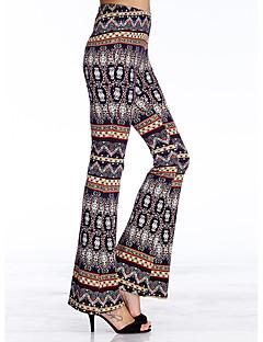 De heartsoul vrouwen afdruk blauw bootcut broek, eenvoudig