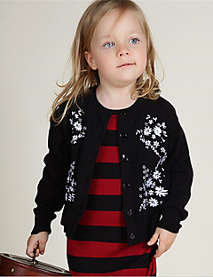 Girl's Casual/Daily Solid Sweater & Cardigan,Cotton Spring / Fall Black