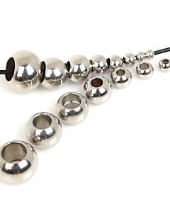 245pcs beadia (misto 8 tamanhos) esferas de aço inoxidável espaçadores para fazer jóias
