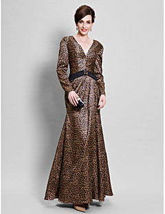 A-line Mother of the Bride Dress Floor-length Charmeuse with Beading