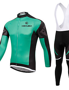 KEIYUEM® Cycling Jersey with Bib Tights Unisex Long Sleeve BikeBreathable / Thermal / Warm / Quick Dry / Wearable / Compression / 3D Pad