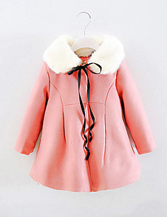 Mädchen Daunen & Baumwoll gefüttert-Ausgehen einfarbig Baumwolle Winter Rosa / Rot