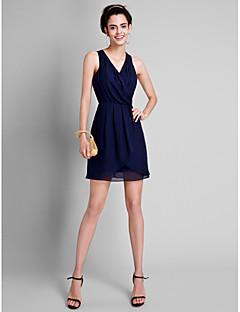 2017 Lanting bride® krátký / mini družička šaty - a-linie V-Neck s