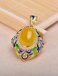 kvinders gule sten forgyldt alloy vedhæng til DIY smykker