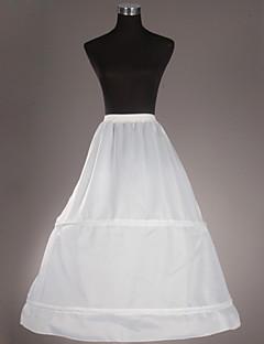 Slips Ball Gown Slip Tea-Length 1 Taffeta White
