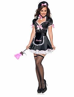 Cosplay Kostüme Dienstmädchenuniform Film Cosplay Schwarz Patchwork Kleid / Krawatte / Hut Halloween / Weihnachten / Silvester Frau