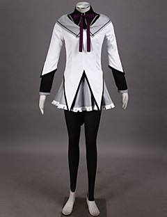 Inspired by Puella Magi Madoka Magica Homura Akemi Anime Cosplay Costumes Cosplay Suits Patchwork Top Skirt Pants Bracelet Bow Headband