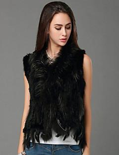 Women Rabbit Fur/Raccoon Fur Top