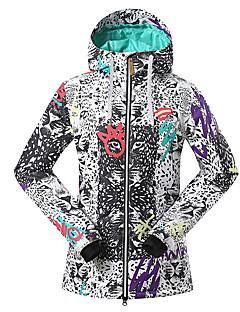 GSOU SNOW® スキーウェア スキー/スノーボードジャケット 女性用 冬物ウェア ポリエステル 冬物ウェア 防水 / 高通気性 / 保温 / 防風 / 抗紫外線 / 絶縁 / 透湿性 / 耐久性スキー / キャンピング&ハイキング / スノースポーツ / ダウンヒル
