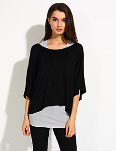 Women's Casual Loose-fitting Batwing Suit (T-shirt & Vest)
