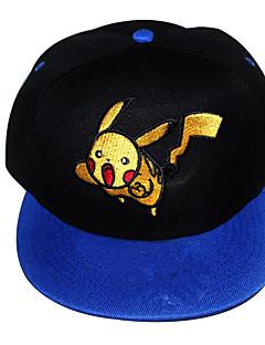 Hat/Kasket Pocket Monster Ash Ketchum Anime Cosplay Tilbehør Sort / Blå Hør