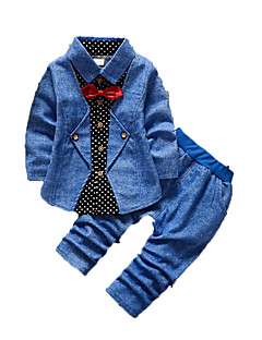Boy's Casual/Daily Print Clothing Set,Cotton Fall Blue / Brown / Red