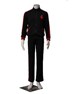 Inspireret af Naruto Boruto Anime Cosplay Kostumer Cosplay Suits Ensfarvet Sort Langt Ærme Jakke / Bukser