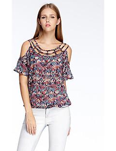 Herz Soul® Damen Rundhalsausschnitt Kurze Ärmel T-Shirt Rot-11AA24538