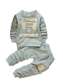 Baby Kleidungs Set-Lässig/Alltäglich Druck Baumwolle Herbst-Blau / Grün / Rosa / Grau