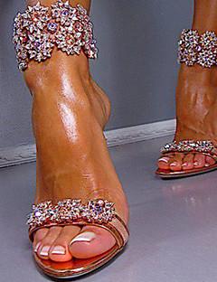 Pantofi pentru femei-PU-Toc Stiletto-Tocuri / Decupați-Sandale-Nuntă / Rochie / Party & Seară-Roșu / Auriu