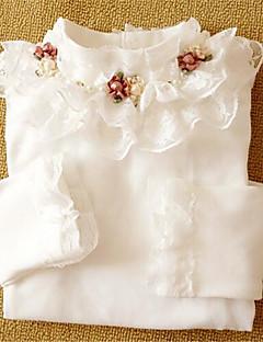 Mädchen T-Shirt-Lässig/Alltäglich einfarbig Baumwolle Herbst Schwarz / Rosa / Weiß / Gelb