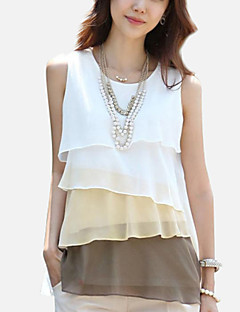 Women's Ruffle Plus Size Layered Ruffle Chiffon Vest