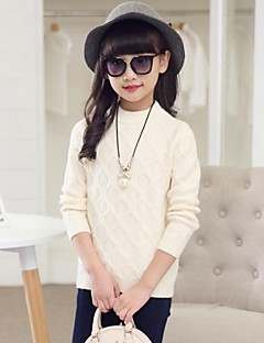 Girl's Casual/Daily Solid Sweater & Cardigan,Faux Fur / Cotton Winter / Spring / Fall Pink / Beige