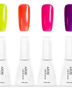 Nagellack UV Gel 12 4 Glitzer / UV Farbgel / Gelee / NEUTRAL / schimmernd Tränken weg von Long Lasting