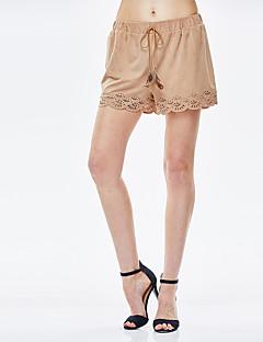 heartsoul kvinders solide brune shorts bukser, enkle