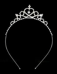 Women's / Flower Girl's Rhinestone / Alloy Headpiece-Wedding Tiaras / Headbands 1 Piece Silver