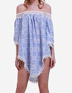 שמלה - מעל הברך - כותנה - סקסי/חוף - בלי בטנה