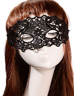 Black Sexy Lady Lace Mask Cutout Eye Masquerade Party Fancy Dress Costume