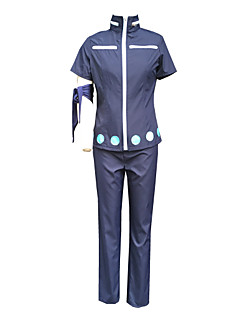 Inspired by One Piece Roronoa Zoro Anime Cosplay Costumes Cosplay Suits Solid Blue Top / Pants / Headpiece / Armlet / Gloves