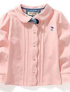 Mädchen T-Shirt-Party/Cocktail einfarbig Baumwolle Frühling / Herbst Rosa / Weiß