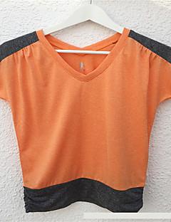 Running T-shirt Women's Sweat-wicking Running Sports Sports Wear Blue / Purple / Orange / Lake Blue