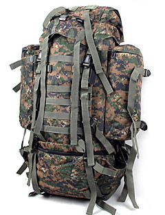 80L L Camping & Hiking & Backpacking Pack / Climbing Outdoor Wearable / Multifunctional / Moistureproof Camouflage Nylon