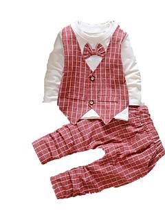 Baby Kleidungs Set-Schule Druck Baumwolle Herbst-Schwarz / Blau / Grün / Rot