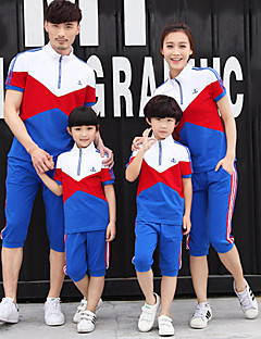 Short Sleeve Cotton Family Clothing Sets,Summer / Spring / Fall Clothing Set