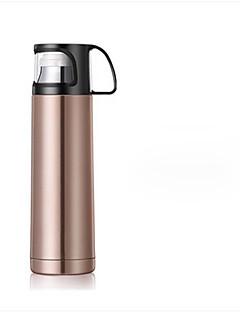 1pc 500ml Edelstahl-Vakuum-Tasse tragbare Flasche zufällige Farbe