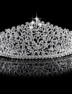 Dame Rhinsten / Legering Medaljon-Bryllup Diademer 1 Stykke Sølv