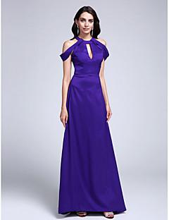 Serata formale Vestito A tubino Con decorazione gioiello Strascico a terra Raso elasticizzato con