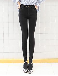 Pantaloni Da donna Skinny / Jeans Semplice Cotone Elasticizzato